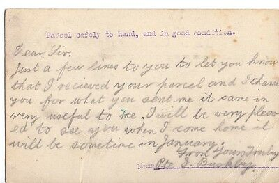 Original 1915 British Army Parcel Receipt Postcard