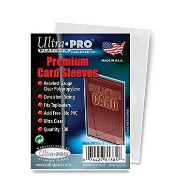ULTRA PRO Premium Card Sleeves 100 Pack NEW Platinum Series MTG NRL AFL Sports