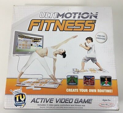 Fitness Mat With 2 Nunchuck Controllers TV Game Ultimotion 6 Fun Workout Games