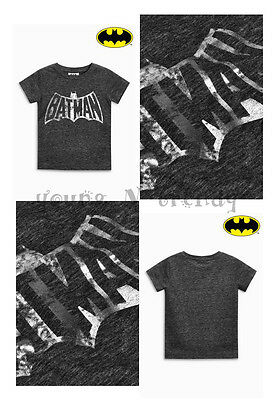 BNWT NEXT 3-6-9-12-18-24 months 2-3 years boys COTTON BLACK BATMAN TOP