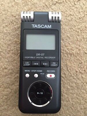 Slightly used TASCAM's DR-07 portable digital recorder (Unit Only)