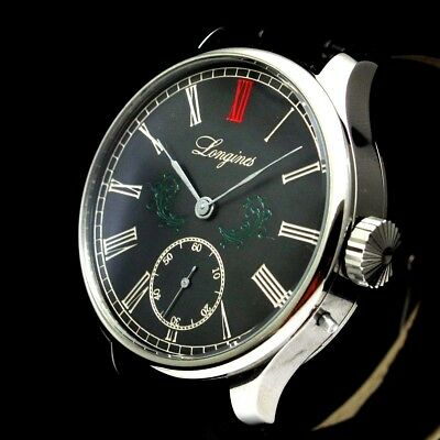 Longines Vintage Mens Wristwatch Stainless Steel Black Men's Wrist Watches Swiss