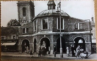 Vintage Rppc View Of High Wycombe Ancient Market House & Colbran Jewellers 1960