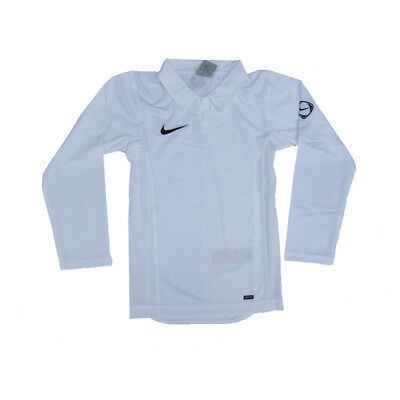 Nike Boys Long Sleeved Sports Top White Nike Fit 6 Years to 15 Years