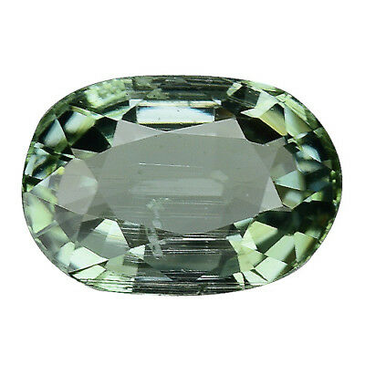 2.120CTS Super top luster green natural sapphire oval loose gemstone see video
