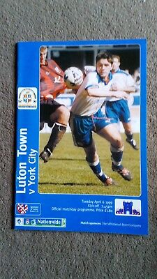 Luton town v York city 1999