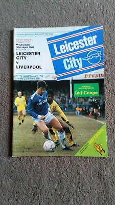 Leicester city v Liverpool 1986