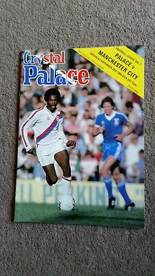 crystal Palace Manchester city. 1980