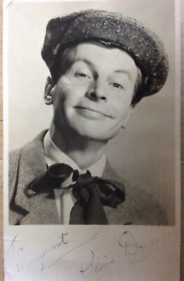 Vintage Photo Card Of Clive Dunn Signed To Margaret Clive Dunn Dads Army Actor