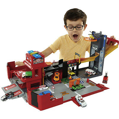Fast Lane Folding Fire Truck Playset, Kids Creative Play Toys, Only at Toys R Us