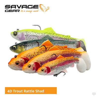 Savage Gear 4D Rattle Trout Swim Baits / Lures - Pike Zander Salmon Fishing