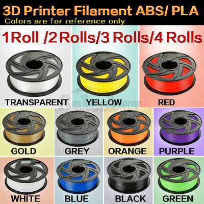 3D Printer Filament ABS PLA 1.75mm 1kg/roll colours Engineer Drawing Art Aussie
