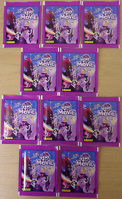 My Little Pony Movie ~ Panini Sticker Collection ~ 10 x Sealed Packs 50 Stickers