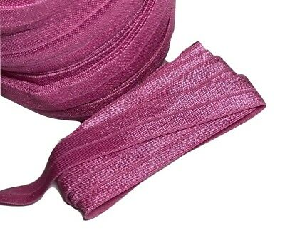 "10 yard Raspberry rose 5/8"" fold over elastic FOE DIY baby headbands & hair ties"