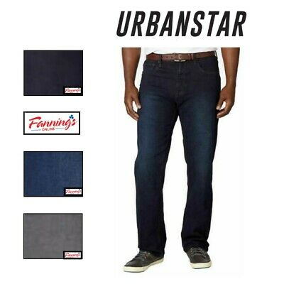 SALE! Urban Star Men's Relaxed Fit Straight Leg Stretch Jeans VARIETY Color F51