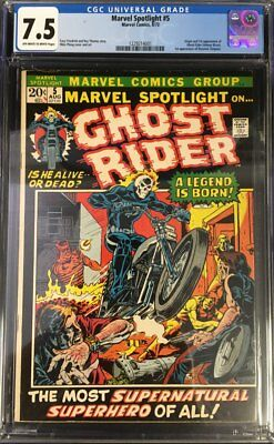 Marvel Spotlight (1972) #5 CGC 7.5 1st App. of Ghost Rider (Johnny Blaze)!