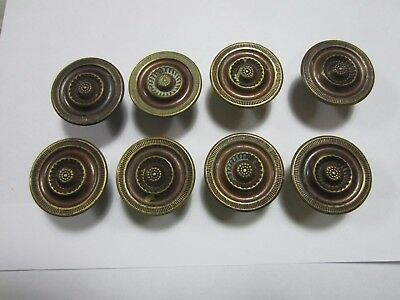 Antique rosette brass drawer pulls 8
