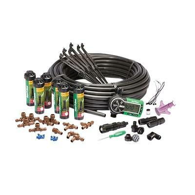In-Ground Automatic Sprinkler System Complete Kit Water Irrigation Green Lawn