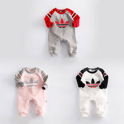 Baby Newborn Boy Girl Winter Wool Thicken Romper Toddler Infant Warm Outfit Sets