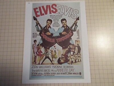 1975 Reproduction Elvis Presley Double Trouble Movie Poster 81/2X11