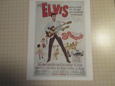 1975 Reproduction Elvis Presley Spin Out Movie Poster 81/2X11