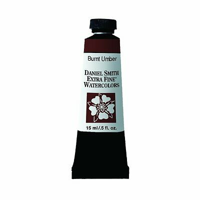 Daniel Smith Extra Fine Watercolor 15ml Paint Tube Burnt Umber (NEW)