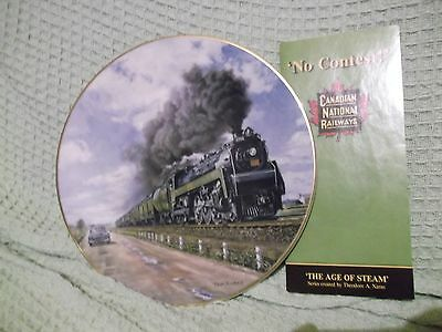"""No Contest 9.5"""" Christian Bell Plate CNR Age of Steam series by T.A. Xaras"""