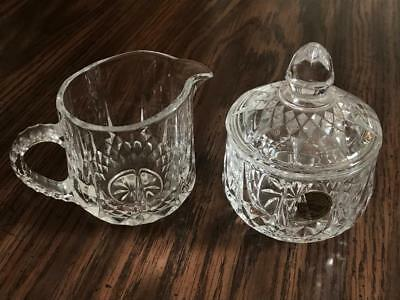 CRISTAL D' ARQUES LONCHAMP Creamer/Sugarbowl with Lid
