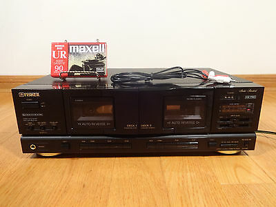 Fisher CR-W983 Stereo Dual Auto-Reverse Cassette Deck HX-PRO TESTED 100% Works!