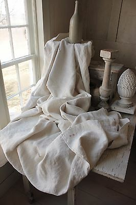 Antique French linen sheet  VB linen 87X83 1850 fabric upholstery slipcover old