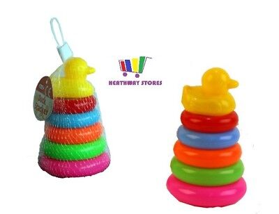 Duck Stacking Rings Baby First Toy Gift New Toddler Tower Toys Learning Hoops