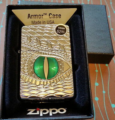 Zippo 28807 Armor Dragon Eye Deep Carve NEW Windproof Lighter Free Shipping