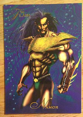 1994 Flair Marvel # 105 Namor base Trading Card