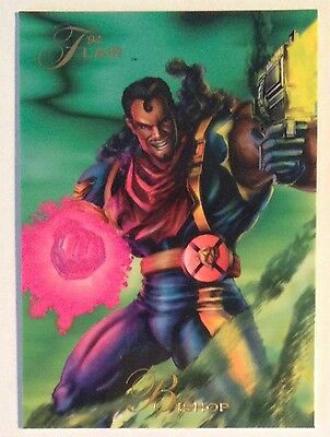 1994 Flair Marvel # 143 Bishop X-men base Trading Card (mutant genesis)