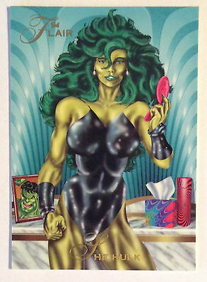 1994 Flair Marvel # 39 She Hulk base Trading Card