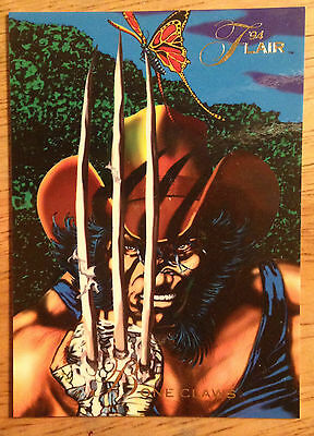1994 Flair Marvel # 119 Wolverine bone claws base Trading Card