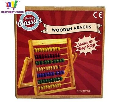 Wooden Abacus Colourful Toy Bead Kids Counting Number Frame Educational Maths