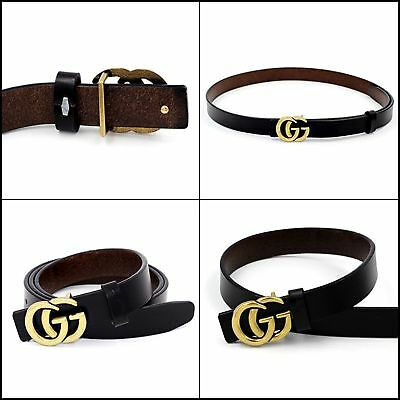 BRAND NEW Womens Genuine Leather Thin Belts 0.9 Belt For Women's Pants Jeans GG