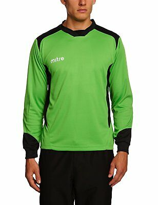 Mitre Defense Goalkeeper Shirt - Lime/Black, 2X-Large/50-52 Inches