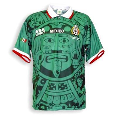 NEW Mexico 1998 Home Retro Classic Football Shirt Kit Top Jersey UK BNWT