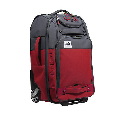 Projekt  21in. Carry-On 101 Suitcase Luggage Bag - Red/Charcoal - Brand New