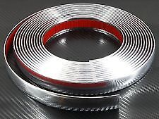 CHROME CAR TRIM SILVER STRIP 12mm x 3M Adhesive Sticky Tape Mouldable FREE P&P