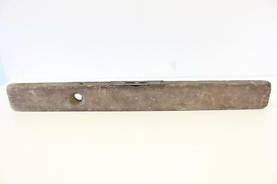 Antique wooden level, 76cm long second hand with brass plate