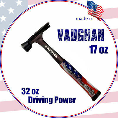 Vaughan RS17 Stealth Rip Hammer All Steel Plain Face 480g (17oz)