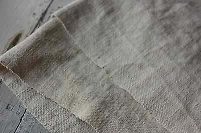 Antique Sheet French homespun w/ twill weave linen & cotton mix 41X71 inches