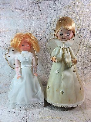Vintage Christmas Angels Musical Wind Up Silent Night Japan Retro Pose Doll
