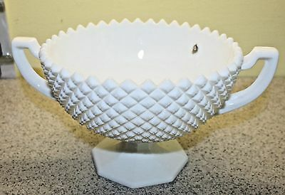 Vintage Westmoreland Milk Glass English Hobnail Console Bowl Compote White