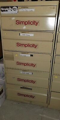 5 drawer Simplicity sewing pattern filing cabinets - multiple uses