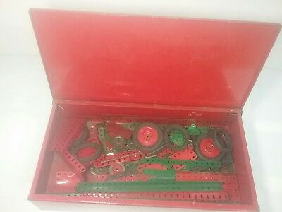 vintage meccano ezy bilt set and original metal box