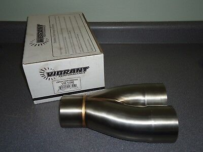 """New Vibrant Exhaust Stainless Steel Merge 2-1 Y Collector 10360 3"""" Inlet/Outlet"""